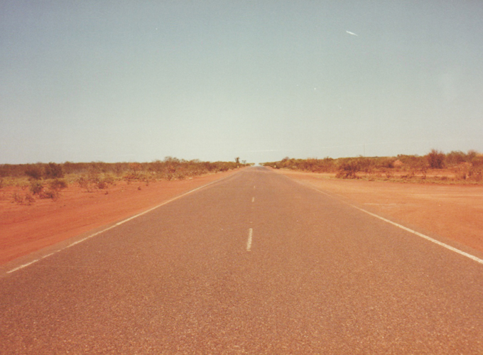 On the road between Perth to Darwin.