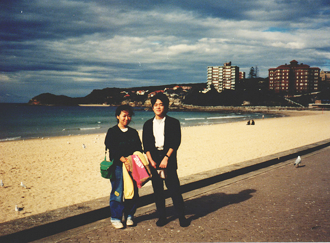 Manly Beach, Sydney with Kyoko.