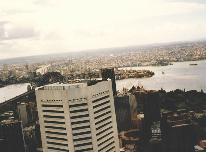 From Sydney tower view.