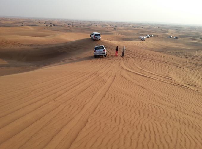果てしなく続く砂漠の地平線