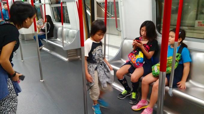 MTR・九龍の波止場に向おう(To the Kowloon wharf.)