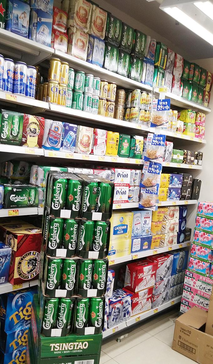 アルコールコーナー・惠康スーパーマーケット(惠康超級市場・Hui kang Wellcome Supermarket.)