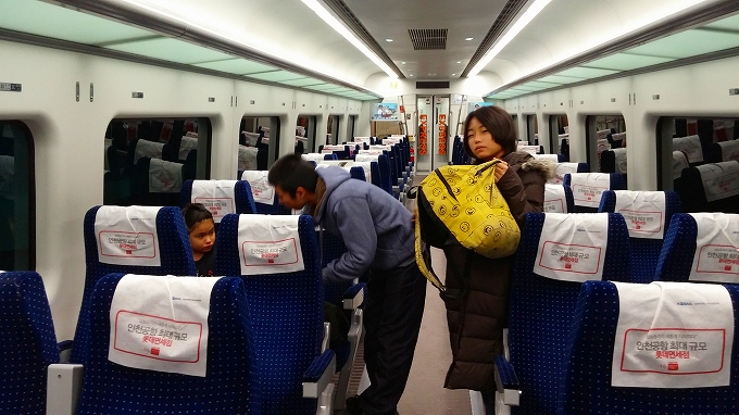 AREX直行列車の内部 - ソウル市内へ(Way to Seoul.)