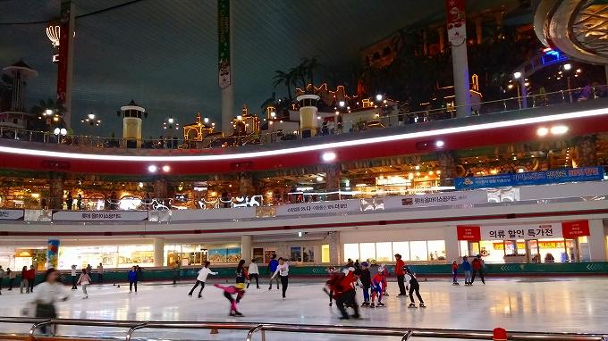 イルミネーションの層 - アイススケートリンク(Lotte World.)