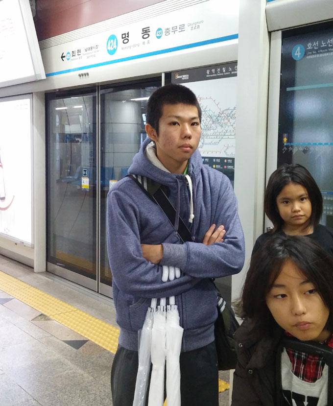 12:00過ぎには明洞に - 明洞へ(The way to Myeong-dong.)