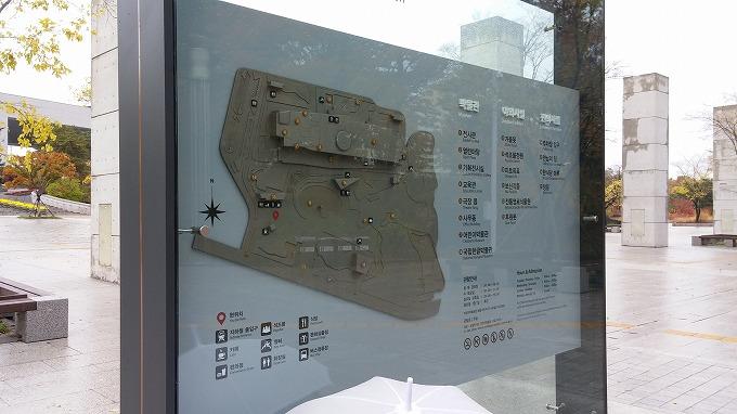 博物館入口の施設案内板 - 国立中央博物館(National Hangeul Museum.)