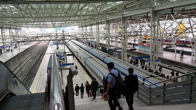 ソウル駅の高速鉄道KTX乗り場 - 帰沖(Way back home.)