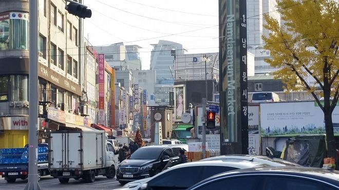 韓国ソウル・南大門市場(ナンデムンシジャン)・南大門市場入口