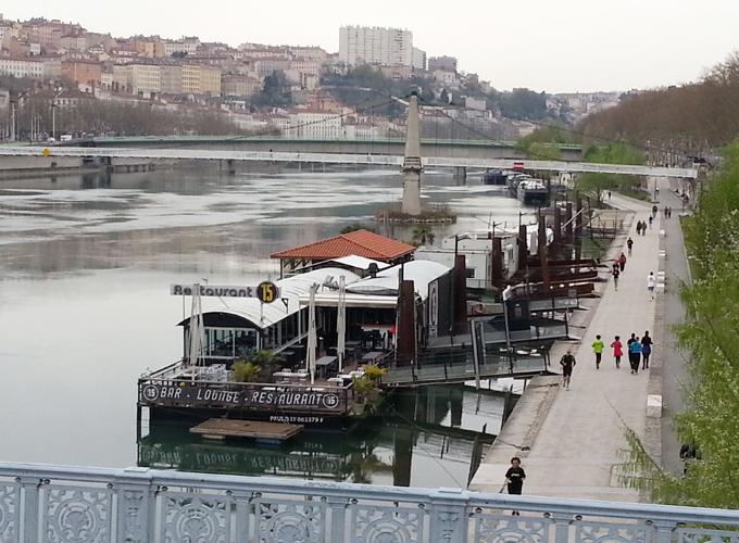 Boat restaurant in the river.