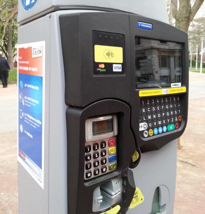Machine of street parking.