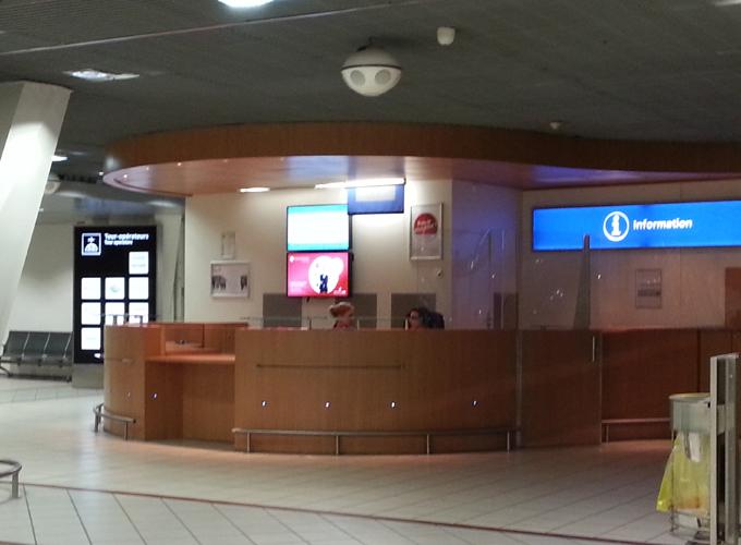 リヨン国際空港のインフォメーション