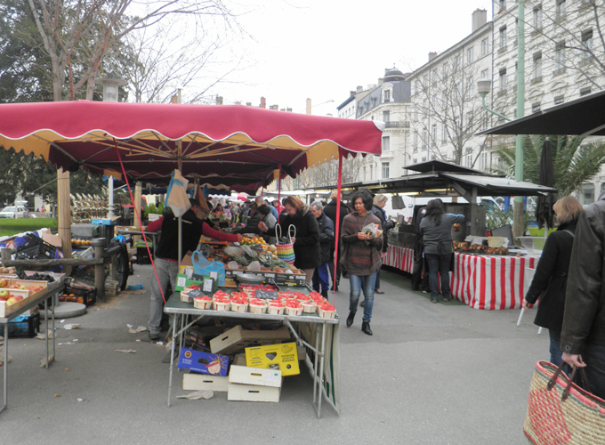 Market at Place Carnot.