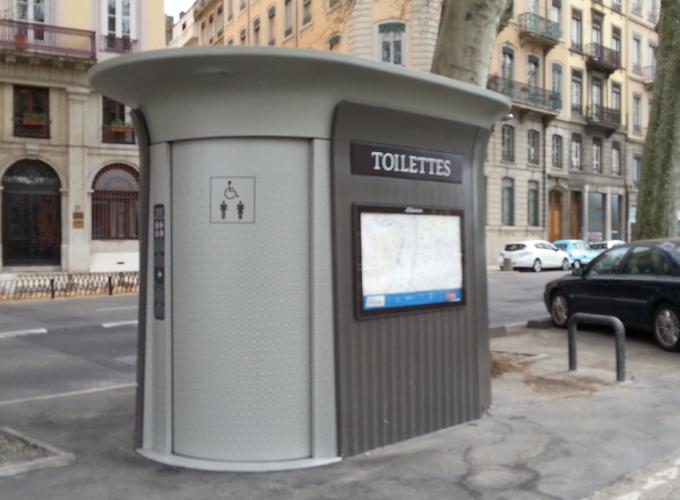 Free public toilet.