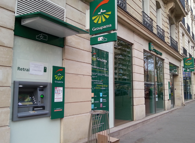 One of many ATMs in Paris