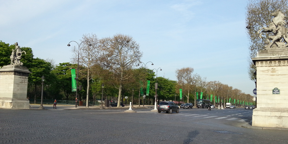 Avenue Champs-Elysees Paris, France.