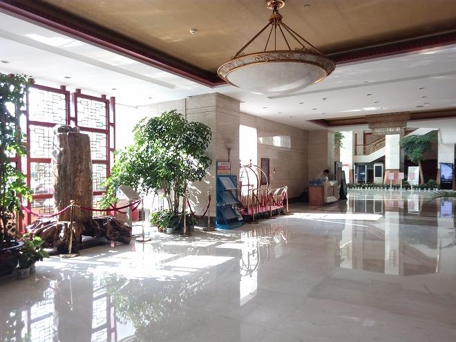 杭州・浙江賛成賓館ホテルロビー。