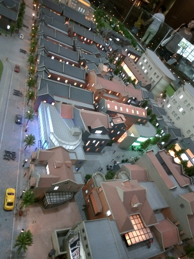 上海都市計画展示館。