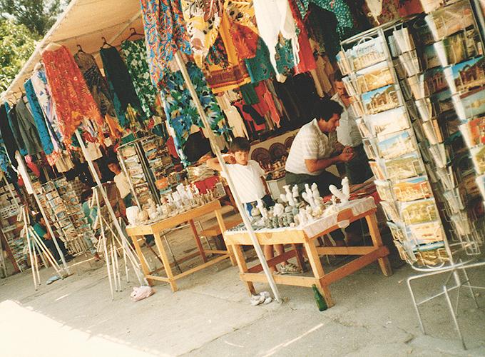 Souvenir shops in Ephesus Izmir.