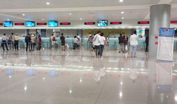 タンソンニャット国際空港入国審査