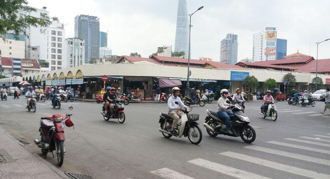 ベトナム・ホーチミン市。ベンタイン市場