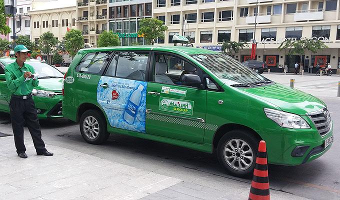 緑のタクシー「マイリンタクシー(MaiLinh Taxi)」