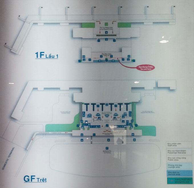 空港施設の見取り図