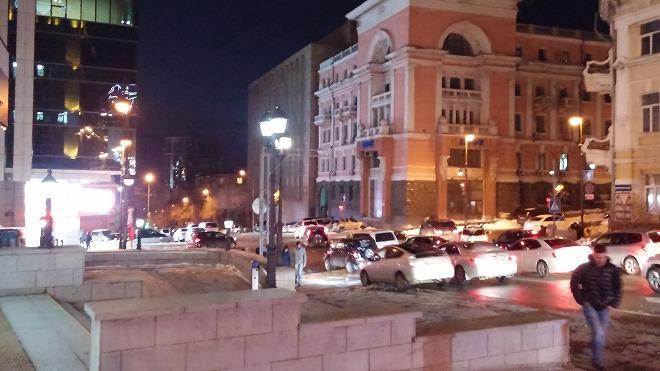 フォンタンナヤ通り。夜のウラジオストク