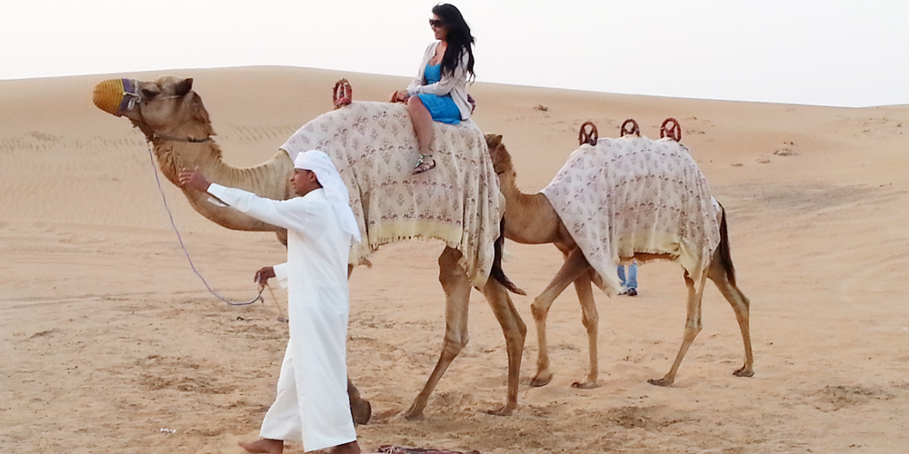 Dubai camel ride.