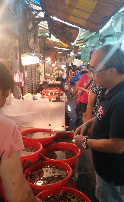 台湾・新北市淡水。淡水-市場。