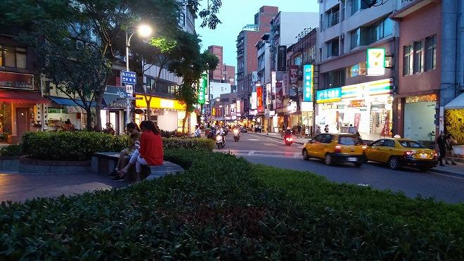 台湾・新北市淡水。马偕街付近