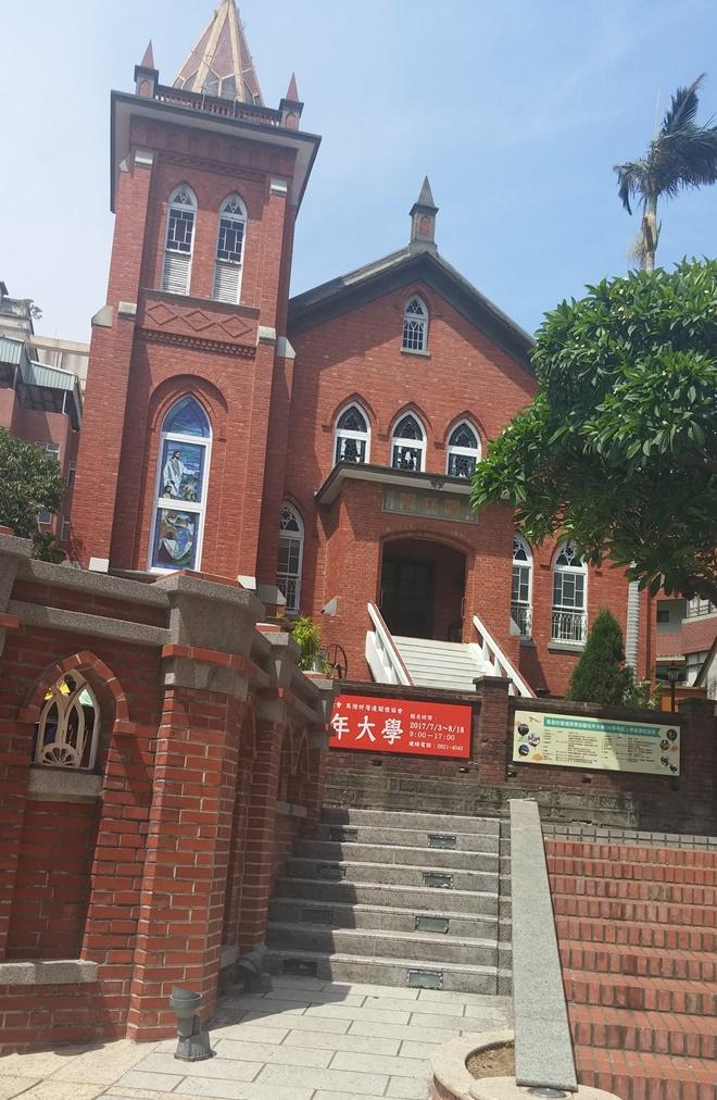 台湾・新北市淡水。台湾基督長老教会淡水教会