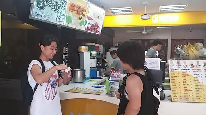 台湾・淡水大学付近のタピオカ屋さん