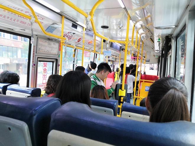 故宮博物館へのバス。